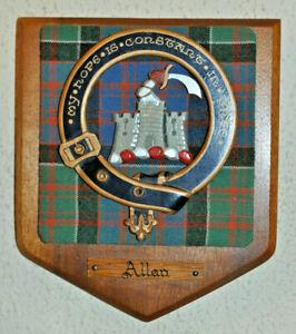 Allan Sept of Clan Macdonald of Clanranald clan plaque shield crest scottish