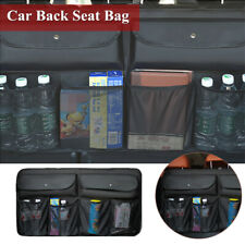 Car PU Back Seat Organizer Bag Tablet Holder Multi-Pocket Storage Bag Universal
