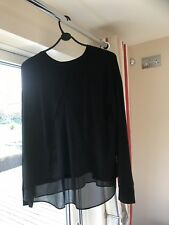 New Without Tags Ladies M&S Rosie Autograph Long Sleeve Pyjamas, Black, 8