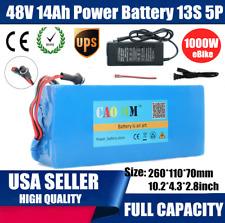 48V 14Ah Lithium li-ion Battery 1000W ebike Bicycle E Bike Electric Charger USA