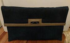 vintage Mary Ann Rosenfeld Dark Blue denim envelope-style clutch handbag Unique