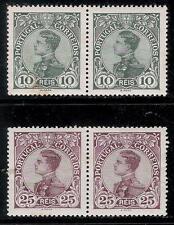 PORTUGAL 1910 Old 2 Pair of Mint Stamps - King Manoel