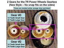 4 NEW! Fisher Price Power Wheels 7R Gearbox Gears: 2 #2 GEARS  / 2  #3 GEARS