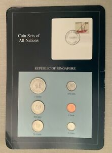 Singapore coins set from all nations - postmark 1984