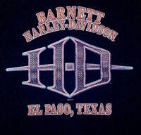 Harley Davidson Mens M Black Graphic Tee Barnett HD El Paso Texas Pocket