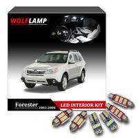 8Pcs White Canbus Bulbs LED Interior Kit Car Light For 2003-2008 Subaru Forester