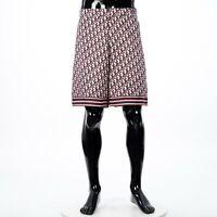 DIOR HOMME 1300$ Twill Bermuda Shorts In Multicolored Silk Dior Oblique Jacquard