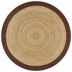 Rug 100%Natural Jute Braided Style Reversible Modern Rustic Look Area Carpet Rug