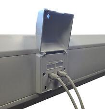 Lockable Faceplate Security Tamperproof 50mm x 50mm cut out Cat5e, Cat6, Cat6a
