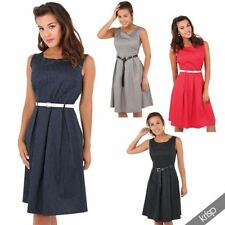 Cotton Party Spotted Skater Dresses for Women