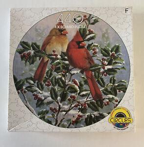 "Vintage ""Winter's Splendor"" by FX Schmid - 440 Pc.Circular Jigsaw Puzzle (1996)"