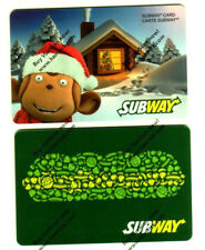 SUBWAY QUEBEC 2015 GIFT CARD FROM CANADA X2 BILINGUAL NO VALUE (rechargeable)