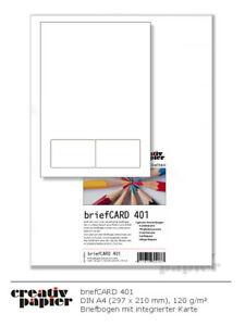Laserbriefbogen mit integrierter Butterfly-Karte 170/85x54 mm DIN A4 50-250 Pack