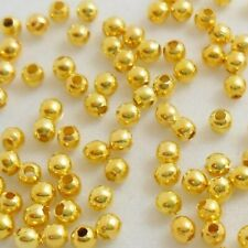 500 pcs 2mm - 2.4mm Iron Metal Beads Gold Plated Spacer Beads - A6715