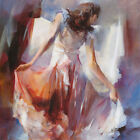 """36W""""x36H"""" SUMMERDRESS II by WILLEM HAENRAETS - WOMAN IN DRESS CHOICES of CANVAS"""