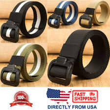 Men's Canvas Webbed Belt, Outdoor Military Tactical Belt, Metal Buckle
