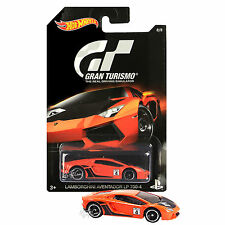 NW Hot Wheels Die Cast Car PS Gran Turismo Orange LAMBORGHINI AVENTADOR LP 700-4