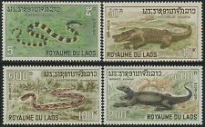 LAOS N°167/170** Reptiles, serpents , 1967 Snakes set SC#156-159 MNH