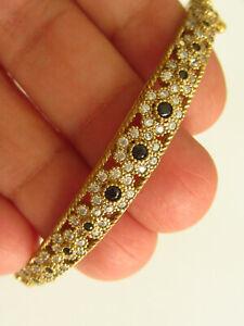Turkish Handmade  925 Sterling Silver Black Onyx Hurrem Sultan Cuff Bracelet