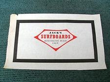 Vintage jacks surfboard surfing surf longboard large laminate early 60s cali