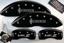 "2007-2011 ""Lincoln MKZ"" Front + Rear Black MGP Brake Disc Caliper Covers 4pc Set"