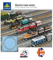 Kazi City Rail Creator Electric Train Technic Train Battery Powered Train Set