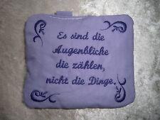 Lavendelkissen Lavendelsäckchen bestickt *augenblicke* Geschenk lila
