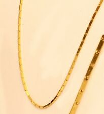 "22K 22kt  PURE YELLOW GOLD baht chain / necklace from Thailand 20""  #a10"