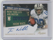 TERRANCE WILLIAMS Cowboys 2013 Prestige Autograph #13 SP RC ON CARD AUTO Baylor