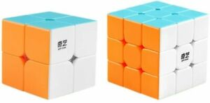 Speed Cube Pack 3x3 + 2x2 Smooth Super Fast Speed Puzzle Magic Cube