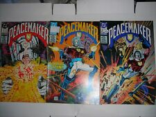 PEACEMAKER 1 2 3 DC Comics JAN FEB MARCH 1988 av.VF Modern age 2 price stickers