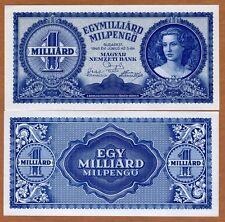 Hungary, 1,000,000,000 milpengo, 1946, P-131 aUnc