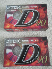 BNIP Three TDK D90 Cassette Tapes from 1980's