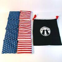 GoSports Stars and Stripes Cornhole Bean Bags 8 Pack w/ Tote Bag - Brand New
