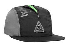 Huf Worldwide Skatebard Cap Camp Dad 5 Panel Volley Hat Conceal Pocket Black