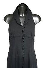 Vintage black evening jumpsuit - 1990s  wool crepe - Dawn Stretton - UK 8/ 10