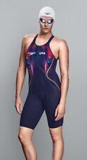 Speedo Fastskin LZR Racer X USA Ltd. Edition Size 22 Women's Open Back Kneeskin