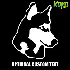 Alaskan Husky Dog Pet Puppy Custom Text Car Ute Wall Vinyl Sticker Decal 20cm