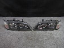 JDM 95-02 Infiniti G20 P11 Primera Kouki Black Housing Headlights Headlamps