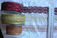 Metallic Crochet Lace 30 - 35mm Wide 2&3 Metres - 2 Styles & 3 Colour Choice AR7