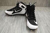 Nike Alpha Hurache Elite 923428 Cleats, Big Boy's Size 7, Black/White