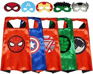 5 pack set ECPARTY FROM ZERO TO HERO SUPERHEROES CAPE & MASK PACK FOR KIDS seald