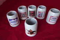Set 6 Budweiser Mini Steins Mugs Shot Glass Anheuser Busch Michelob Beer Bud
