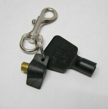 Spring Loaded Metal Hipster Key Ring Clip On Belt Loop Meter Box & Radiator Key