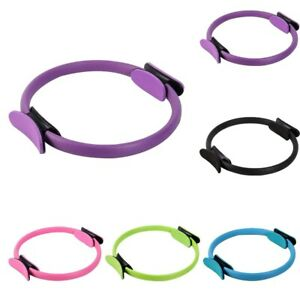 Pilates Fitness Resistance Ring Double Handled Exercise Wheel Yoga Gym Circle