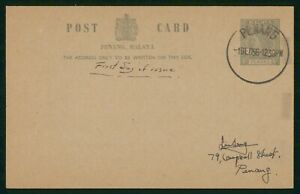 Mayfairstamps Malaya 1956 Penang Stationery Card First Day Cover wwo89069