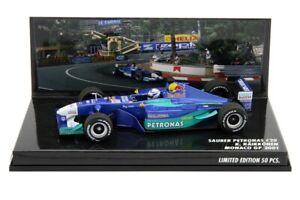 1/43 Minichamps Spark Kimi Raikkonen  Sauber Petronas C20 2001 Monaco GP