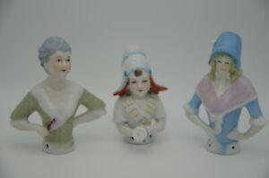 3 schöne Porzellanfiguren Teepuppen Halbpuppen absoluter Toppzustand