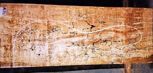 Blackline Spalted Curly Maple Wood 12578 Luthier Guitar Billet 24.75x 9.5x 4.125