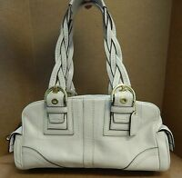 Coach 10048 Mia Ivory Leather East West Satchel Bag